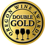 Oregon Wine Awards Double Gold Label